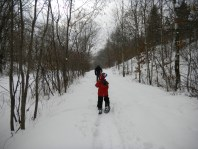 Snowshoeing on the Gateway Trail.