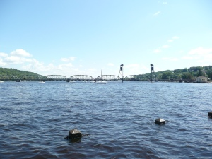 One more photo of the Lift Bridge over the lovely St. Croix River during the summer. Wisconsin is on the left and Minnesota is on the right.