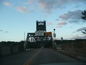 The Stillwater Lift Bridge, heading east into Wisconsin.