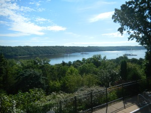 The wedding venue, overlooking the St. Croix River which borders Minnesota and Wisconsin.