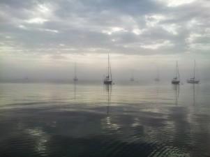Grand Marais Harbor after a rainstorm.
