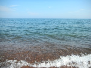 If you sit on the bench in the previous picture, this is your view of Lake Superior in summer.