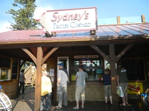 Stop at Sydney's on a hot summer's day for frozen custard and coffee.