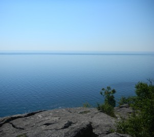 Lake Superior as seen and adored from atop Palisade Head.
