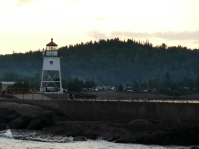 You can walk out to the lighthouse from Artist's Point.